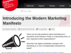 A modern marketing manifesto